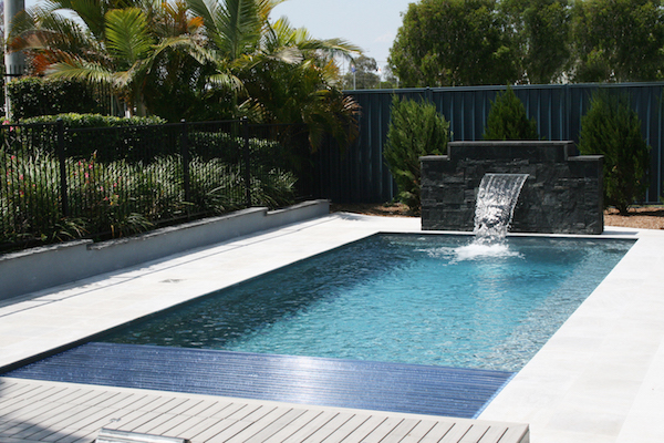 The Reflection Fiberglass Pool With Cover Box